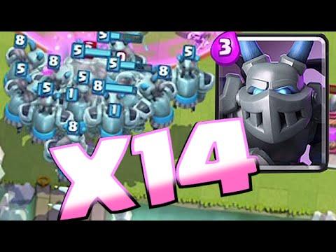 Clash Royale -  X14 MEGA MINION SWARM!! Mass Gameplay!! (New troop Update)