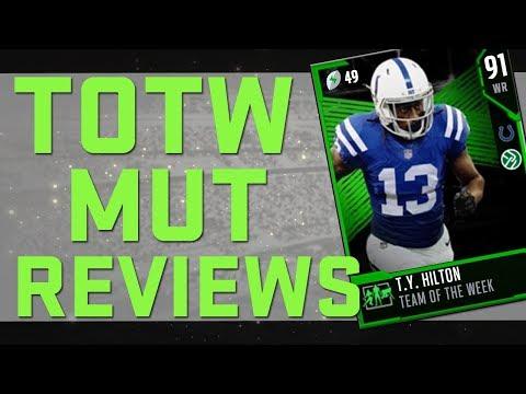 MUT Reviews | TOTW Item Reviews: Week 3 |  Madden 18 Tips