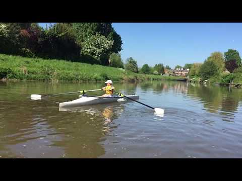 7 year old's first ever scull in a TS515 Training Scull