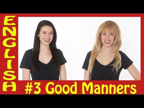 English conversations #3 - Good Manners - محادثة باللغة الإنجليزية