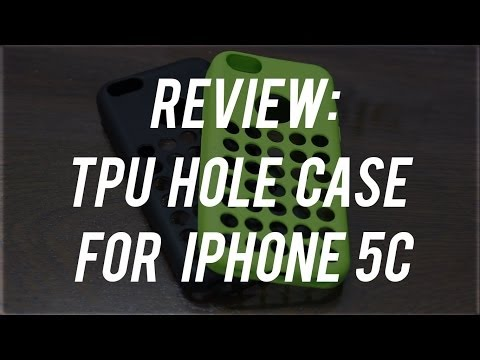 Review : Minisuit TPU Holes Design Case Cover for iPhone 5C