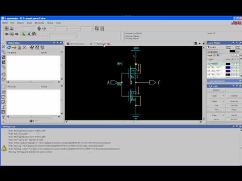 VLSI Tutorial 3: Schematic driven layout using Mentor Graphics ICStation