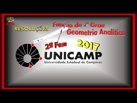 UNICAMP 2017 (2ª Fase) - Resolução - Função do 2º. Grau e Geometria Analítica