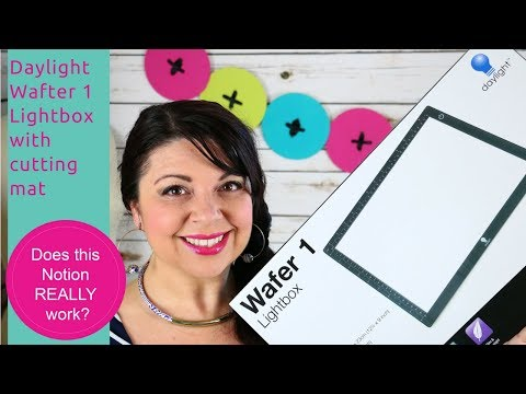 How to use the Daylight Wafer 1 light box - Does this Notion REALLY work? Sewing Notion