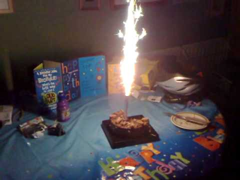 Birthday Cake Firework Candle  .