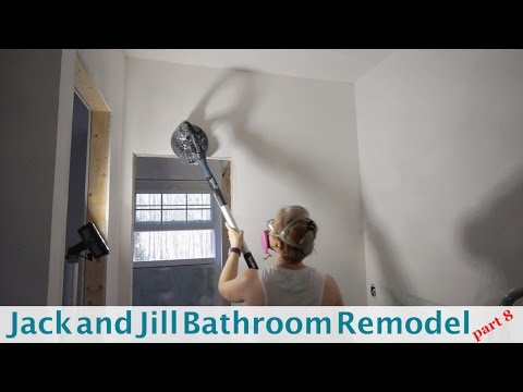 Sanding Drywall with Festool Planex -Jack and Jill Bathroom (Part 8)