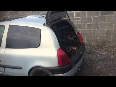 Renault clio twin 900cc cbr fireblade engined car, rear wheel drive, crazy