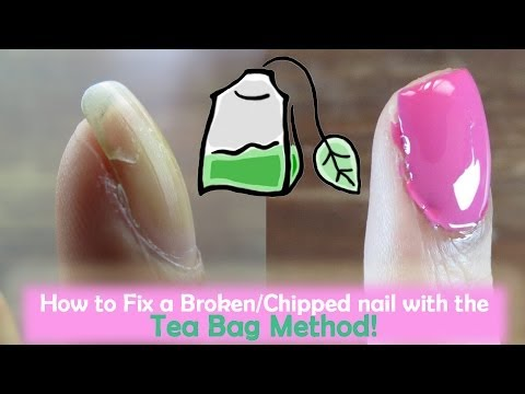 How to Fix a Broken Nail with a Teabag! | OffbeatLook