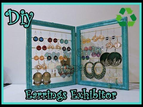 Diy. Earrings Exhibitor