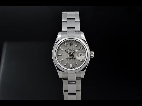 Rolex Datejust Silver Index Dial Oyster Bracelet Ladies Watch 179160