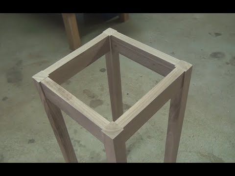 Using Router Mortiser to make bedside table - Floating Tenons
