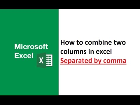 how to combine two columns in excel separated by comma, combine multiple cells in excel with text