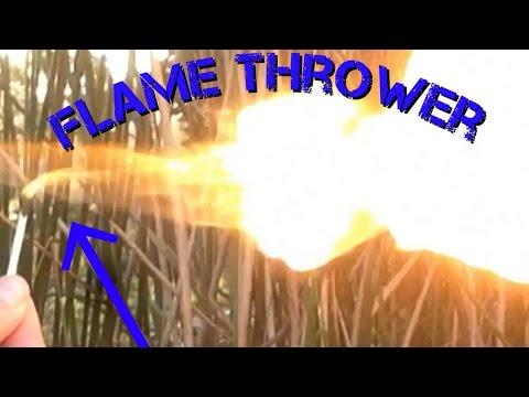 HOMEMADE FLAMETHROWER!! - DIY