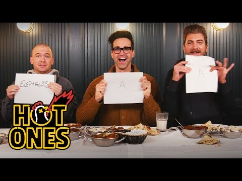 Rhett & Link Eat the World's Spiciest Curry with Sean Evans   Hot Ones