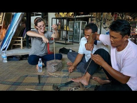 HOW TO BUILD A CROSSBOW! | Authentic Cambodian Artisan Experience