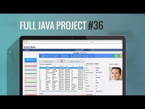 Projet Java#36:Part2:Comment insérer la date  à travers une calendrier