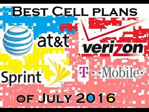 Best Cell Plans July 2016