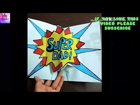 Learn how to make Father's Day 3D (Super Dad) Pop Up Card !! Tutorial,Handmade || by The Arts Center