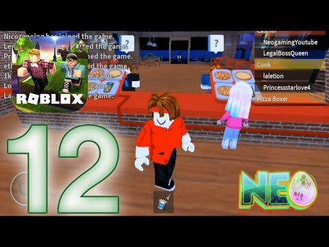 Roblox: Gameplay Walkthrough Part 12 - Work at a Pizza Place (iOS - Android)