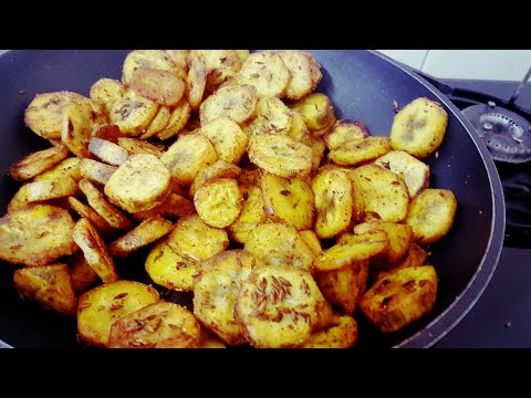 no onion no garlic recepie Raw banana fry  plantain recepie  kachhe kele ki sabzi