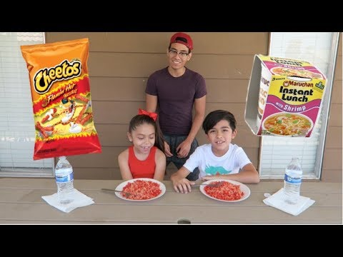 HOT CHEETOS NOODLES CHALLENGE