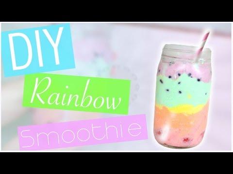 DIY Rainbow Smoothie/ Parfait (No blender!) EASY!