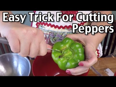 Easy Trick For Cutting Peppers