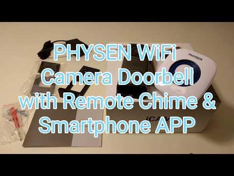 PHYSEN WiFi Enabled Camera Video Waterproof Doorbell with Doorbell
