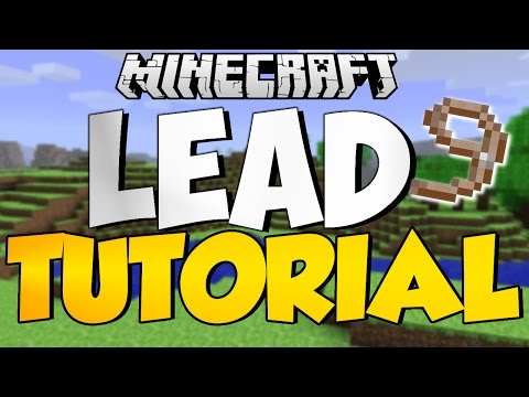 Minecraft TU19 Tutorial How To Make Leads Xbox One, Xbox 360, PS4, Ps3, Ps Vita Update 19 Horses