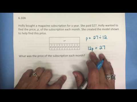 6.10A One-step Equations and Inequalities