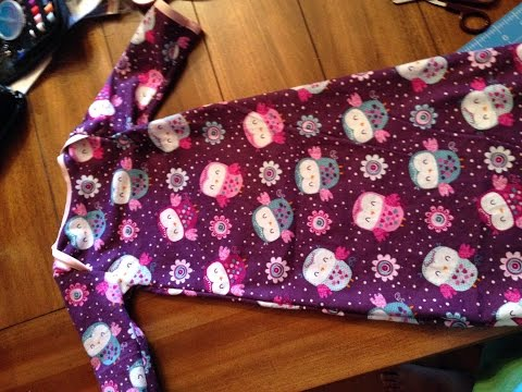 Baby sleeper gown tutorial! Free pattern