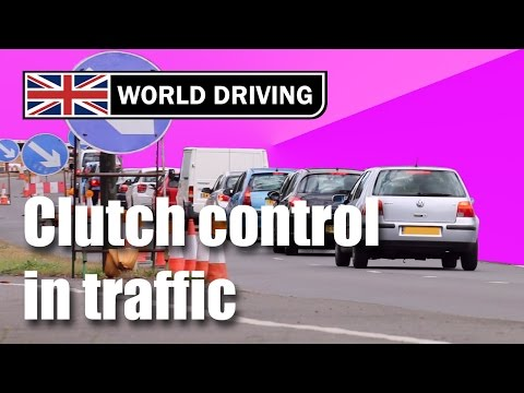 How to use clutch control in traffic -  learning to drive a manual/stick shift