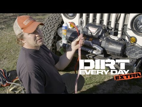 How to Install a Bubba Rope Synthetic Winch Rope on a Warn Winch - Dirt Every Day Extra