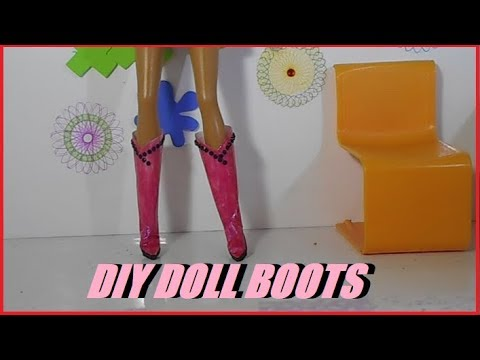 DIY: BARBIE DOLL BOOTS VERY EASY!