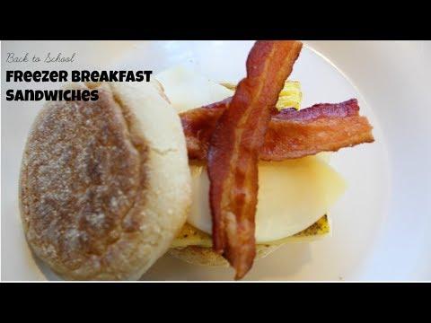 Freezer Breakfast Sandwiches | Back to School