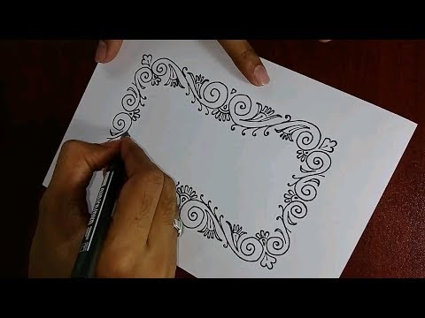 Photo frame drawing