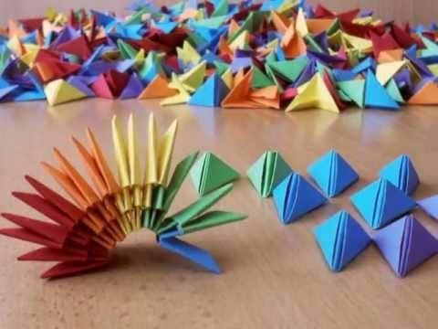 3D Origami Rainbow Vase