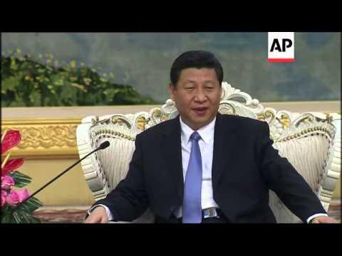 President Xi holds talks with US Treasury Secretary