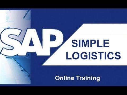SAP S/4 Hana Simple Logistics Training Video | Simple Logistics 1610 1511 Online Course tutorial