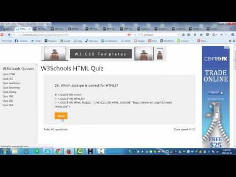 W3Schools HTML Quiz Walkthrough
