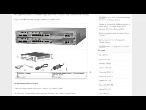 How to start a Cisco 5506-X firewall ?