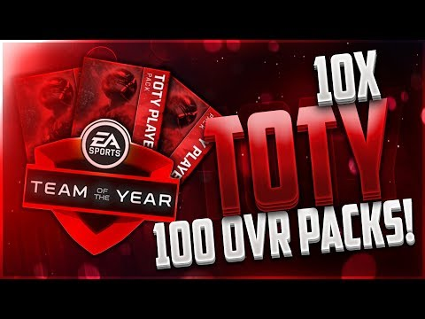 10x Team of the Year MASTER PACKS! 100 OVERALL ELITE PLAYERS! Madden Mobile 18