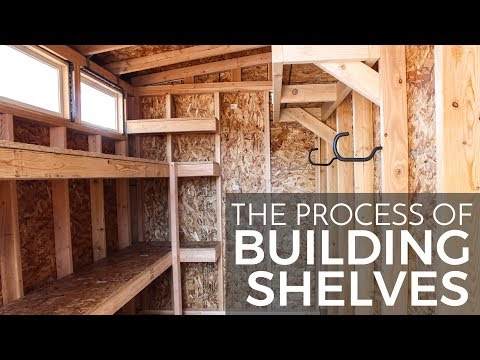 Process of Building Shed Shelves
