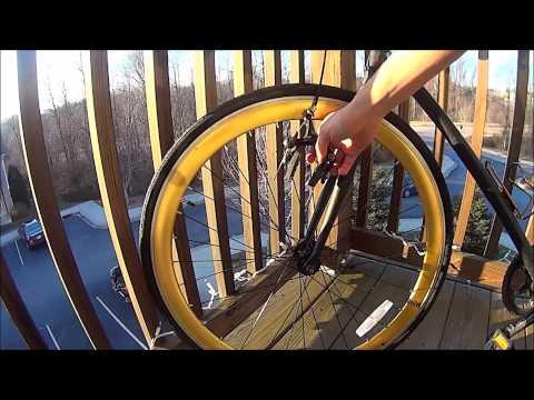 Clean Bike Brake Pad Installation - Fixed Gear
