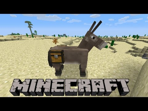 How To Use Chest/Ride on a Donkey | Minecraft 1.8