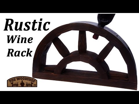 Rustic Wine Rack Made Out Of 2X4 / Woodworking Project