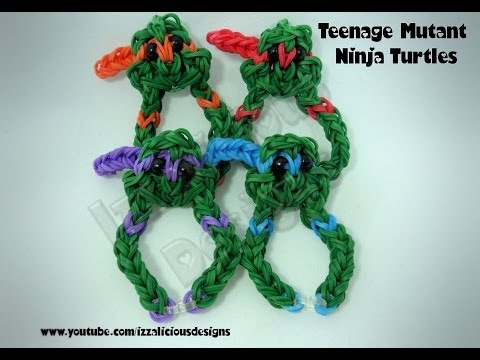 Rainbow Loom Teenage Mutant Ninja Turtle Charm Bracelet