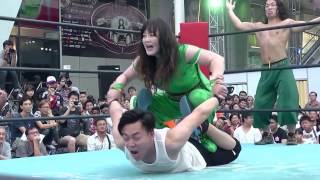 3rd Match of Japan Expo Thailand 2016 Day2  Emi Sakura & Takanashi Masahiro vs Riho & Wayu