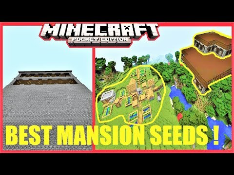 TOP 3 BEST MANSION SEEDS FOR Minecraft PE 1.1.4 ! STRONGHOLD, VILLAGES, MINESHAFTS & MORE ! MCPE
