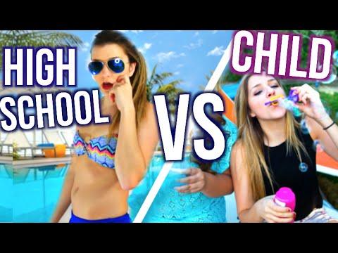 Spring Break High School You VS Child You!